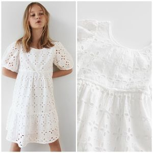 New Zara girl Swiss embroidery dress